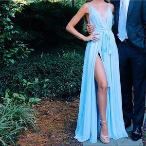Revolve- Michael Costello Cinderella Blue Gown